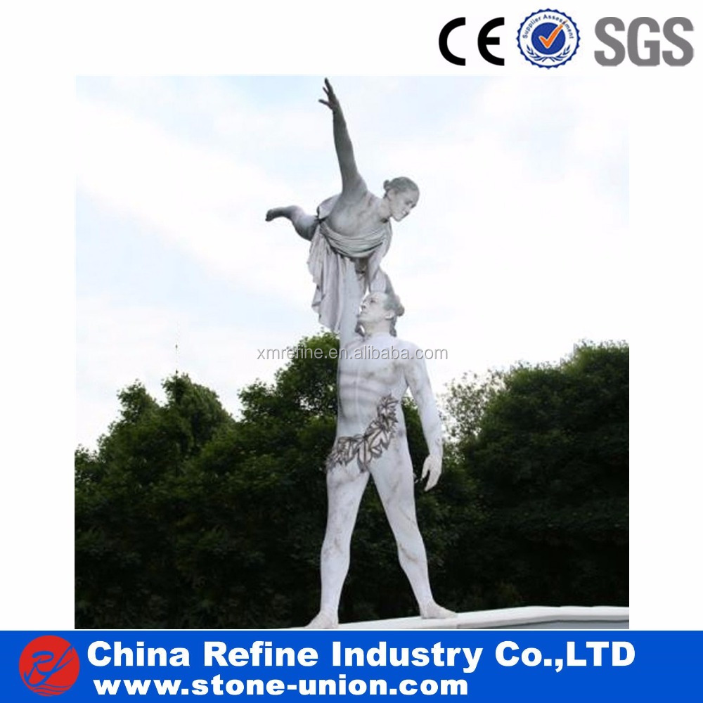 Garden decoration natural stone carving white marble statues