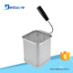 Stainless Steel Wire Mesh Strainer Colander Cooking Tools Pasta Strainer Food Serving Square Pasta Basket