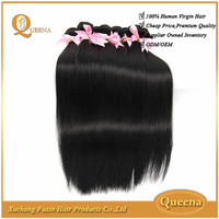 2015 Hot Selling Free Sample Human Hair Weave Raw Unprocessed Cheap Straight Hair Weave In Bulk