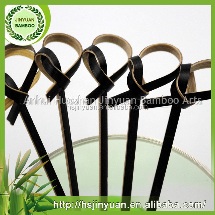 Folk art set Eco-friendly bamboo knot skewers for meat/fruit