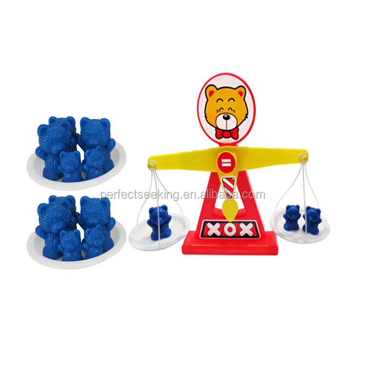 Cute Bear Scale Measuring Weight toy/ counting scale game for kids
