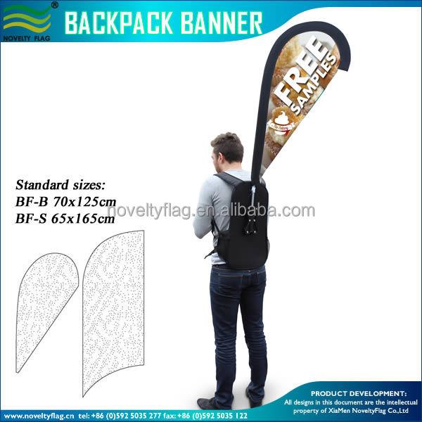 Walking Zaino bandiera con la Bandiera del teardrop Produzione produttori, fornitori, esportatori, grossisti