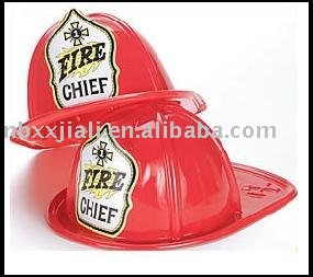 modle6015 adult size red plastic fire hat