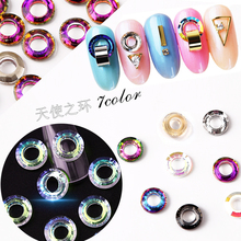2018 newest design angel ring stone sticker 3d crystal nail DIY jewelry decoration for nail art supply