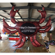 HOT Selling Giant Inflatable Crab Inflatable Replica Ocean Animal W05078