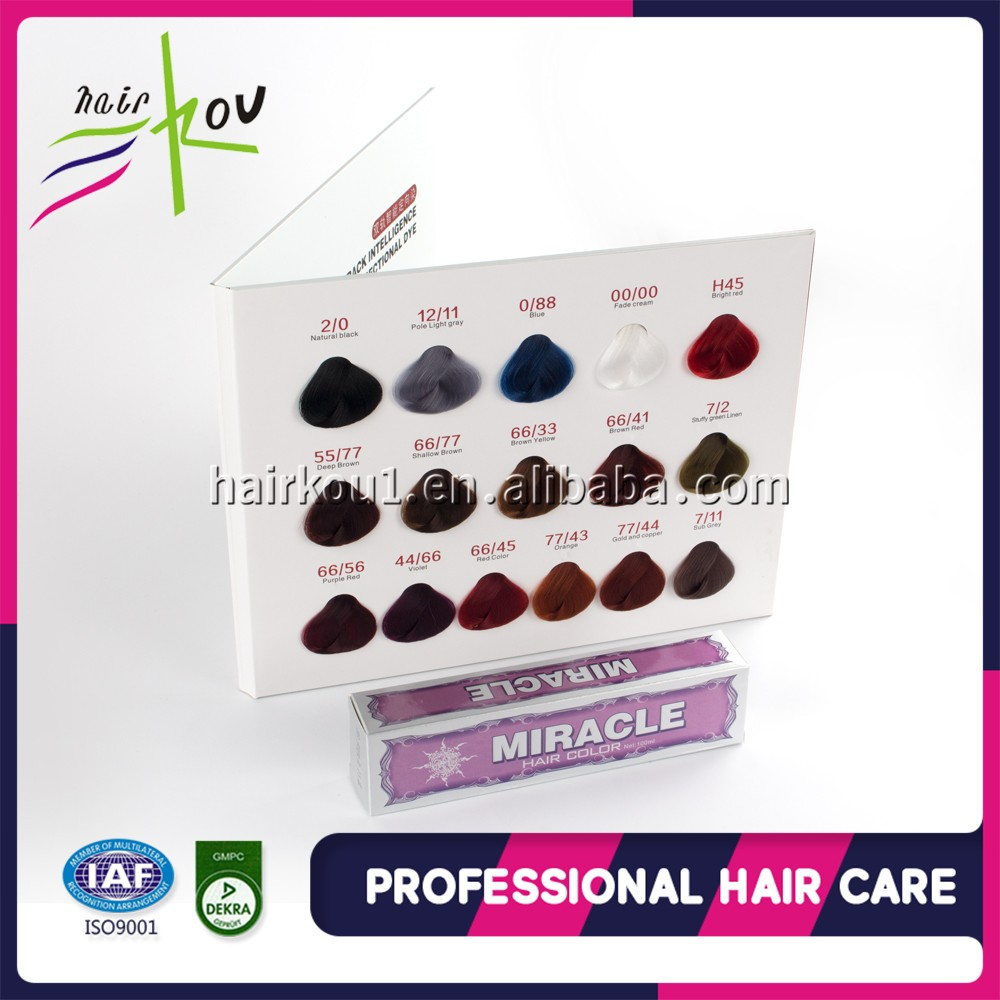 Professional hair dye hair colour cream gray white colour private label halal dye powder cosmetic temporary change hair colour