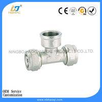 brass 10mm compression fittings chrome plated fitting