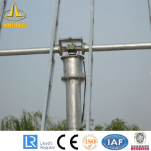 Solar Driveway Galvanized Steel Light Pole
