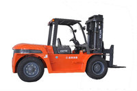 Diesel counterbalance forklift 10 ton for stone/warehouse/depot
