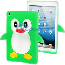 Cute Colorful Cartoon Animal 3D Stand Penguin Shape Silicon Case for Apple iPad mini
