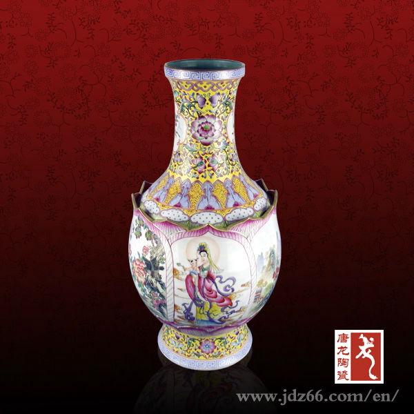 50cm Height Famille Rose Chinese Antique High Quality Exclusive Ceramic Vase