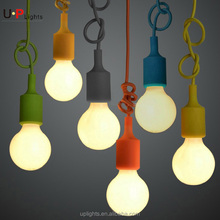 Fancy lampholder Colorful Silicone Pendant light for home decoration