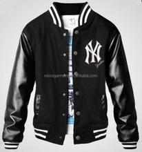 Customized basball Jacket with leather sleeves