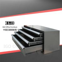 IGO-Furniture Steel storage tool cabinet drawing cabinet metal customized folding used steel storage cabinets