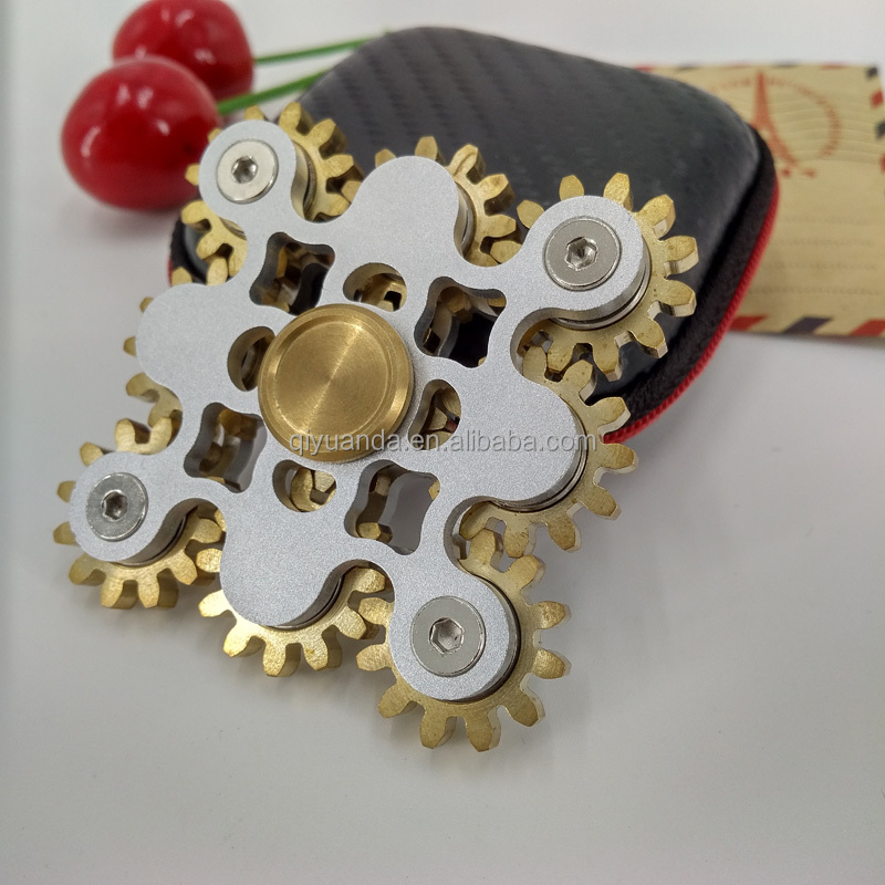 Newest Luxury Nine Gear fidget spinner free shipping via <strong>FedEx</strong> to USA Handspinner