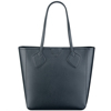 Women's Structured Large Tote Bag Faux Leather Solid Color Strong Bag