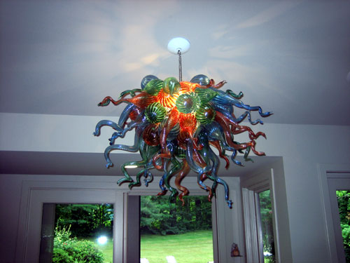 LED murano glass chandelier