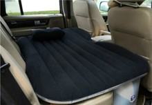 black color pvc inflatable car air bed for back seat