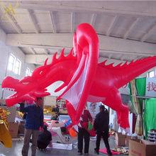 decoration used fly red inflatable dragon