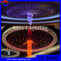 mode design LED color changing large hotel chandelier with remote control