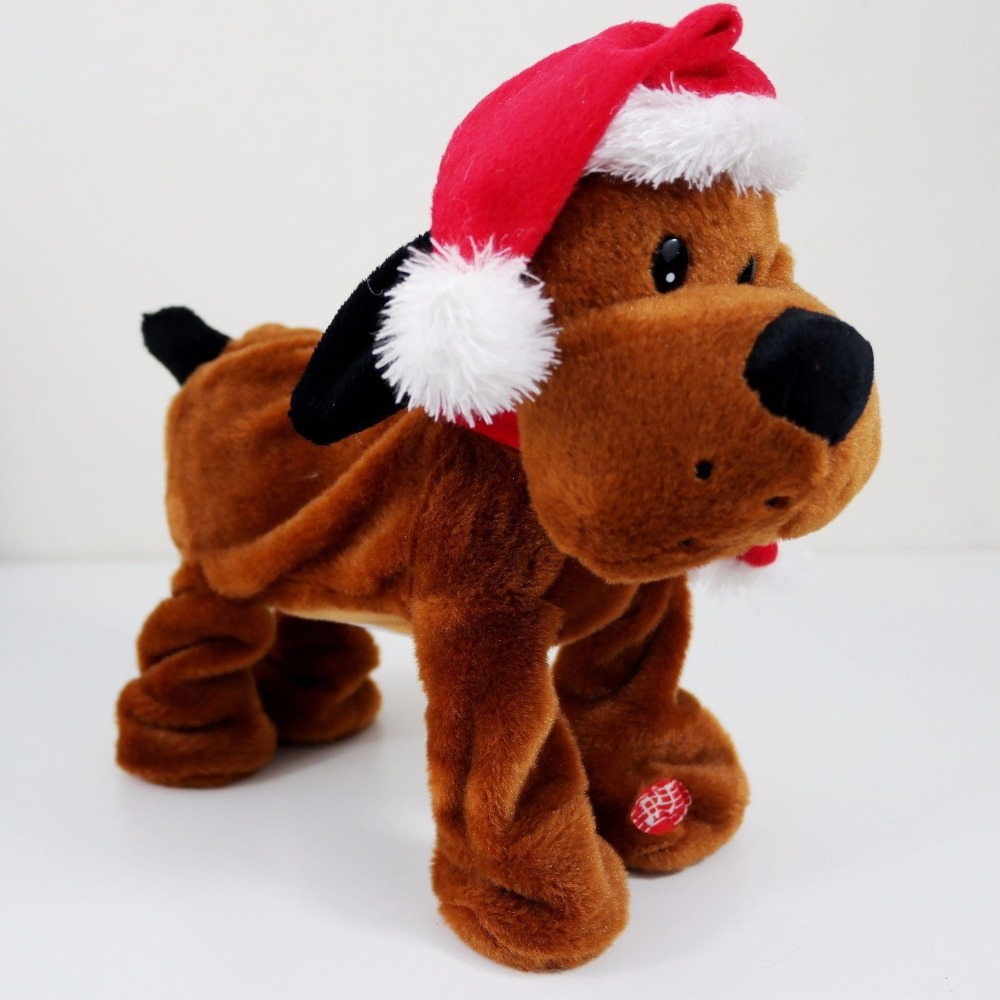 Top Xmas Decoration Toy singing christmas musical dancing plush dog toy