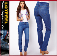 Marney Straight Leg Jeans in Vintage True Blue for womens (LOTX114)