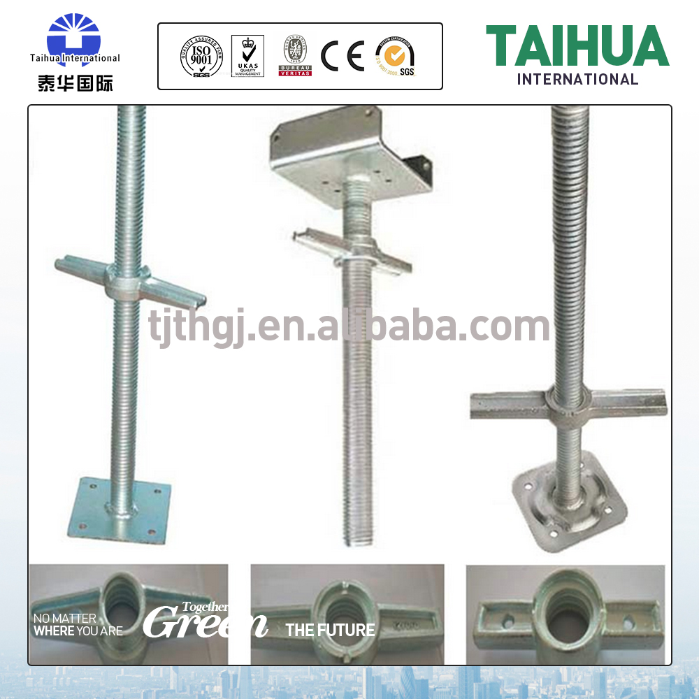 Construction item screwed jack and base plate for sale