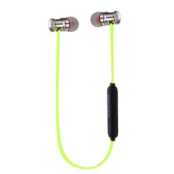 bluetooth Stereo Headset Earphones with Microphone for Sports & Running with Magnet Attraction
