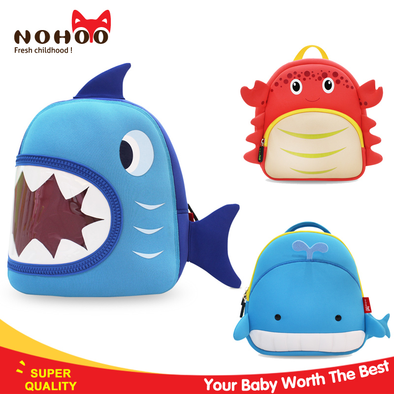Nohoo factory wholesale waterproof 3d cartoon mini child school bag 2017