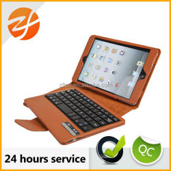 for apple ipad mini USB or bluetooth keyboard leather case,clavier case for ipad mini
