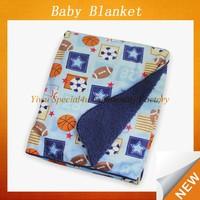 Soft fleece 100 polyester fleece blanket micro plush fleece blanket super soft baby blanket with embroider-elephant SPBB-011