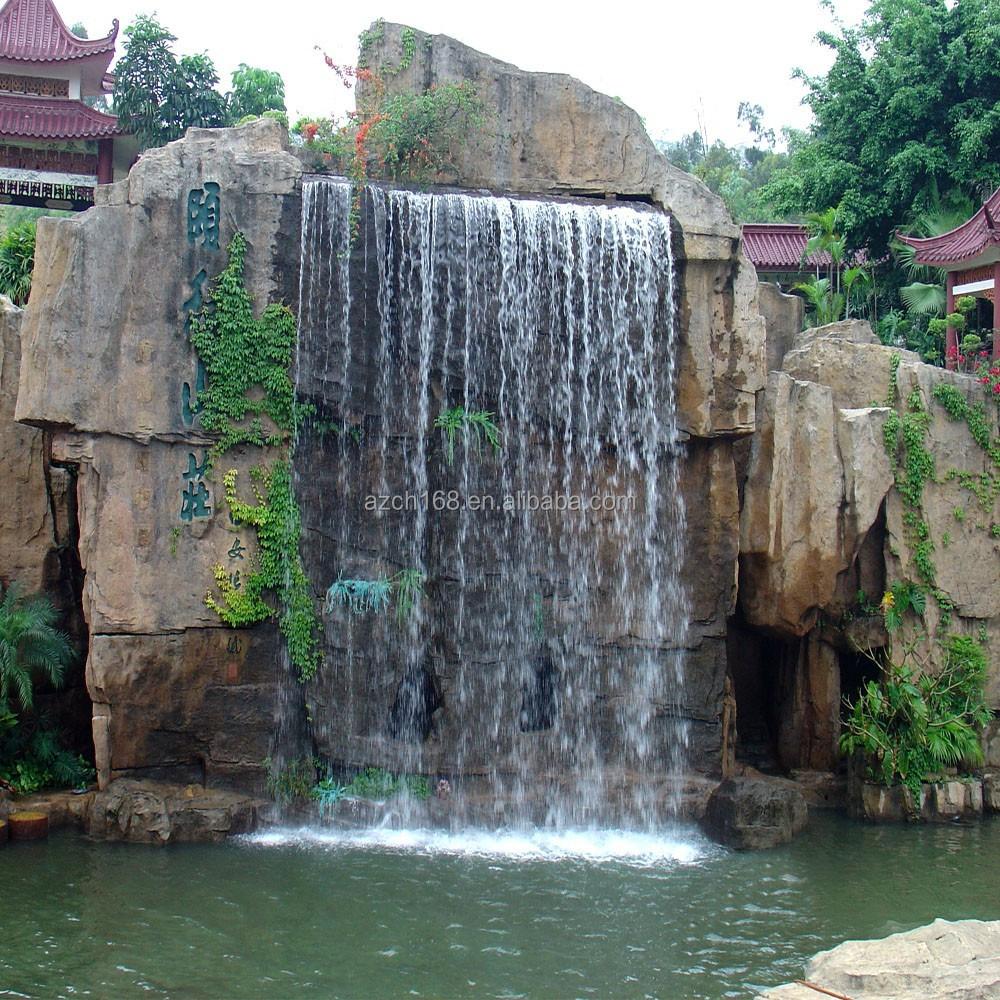 Public park or garden decoration waterfall artificial rock for Cascadas de agua artificiales para jardin