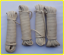 6mm waxed cotton flagpole halyard , wax cotton clothesline rope, cotton braided rope