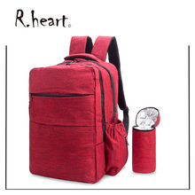 Nappy Backpack Diaper Bag Mummy Changing Rucksack Multi-function Travel Totes with Insulated Bottle Bag and Stroller Straps