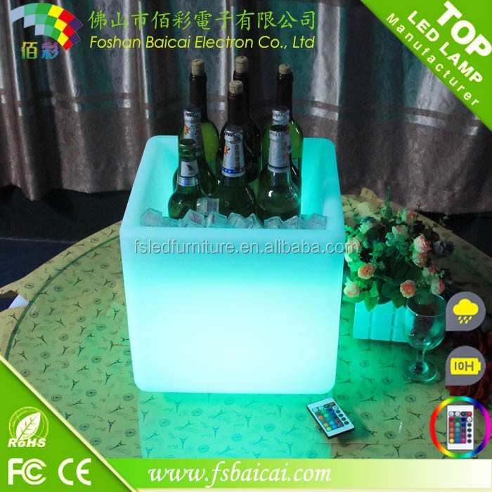 Manufacturer directly acrylic led light ice cube box
