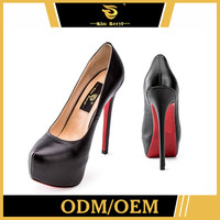 Quick Lead High Heel Platform Ladies Cuban Red And Black Shoes Sexy Fashion Shoe Stiletto