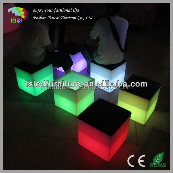 led cube used in garden manufacturer