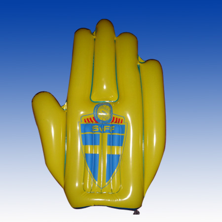 inflatable hand with logo printing