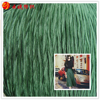 Polyester plasin color Satin Pleated new fabric for dress