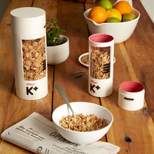 flat edge food grade paper tube paper box breakfast food packaging cylinder box with PVC window on tube side
