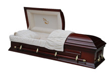Solid cherry funeral bier custom hand carved casket noble craft