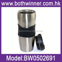 vacuum water mug , H0T011 350ml double wall stainless steel travel mug with push button closure lid , drinkware vacuum mugs