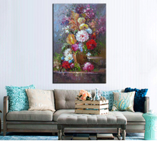 Custom wall decor canvas art beautiful colorful flower oil canvas painting 3 panel