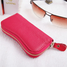 Leather gift car key case key pouch price for Opel