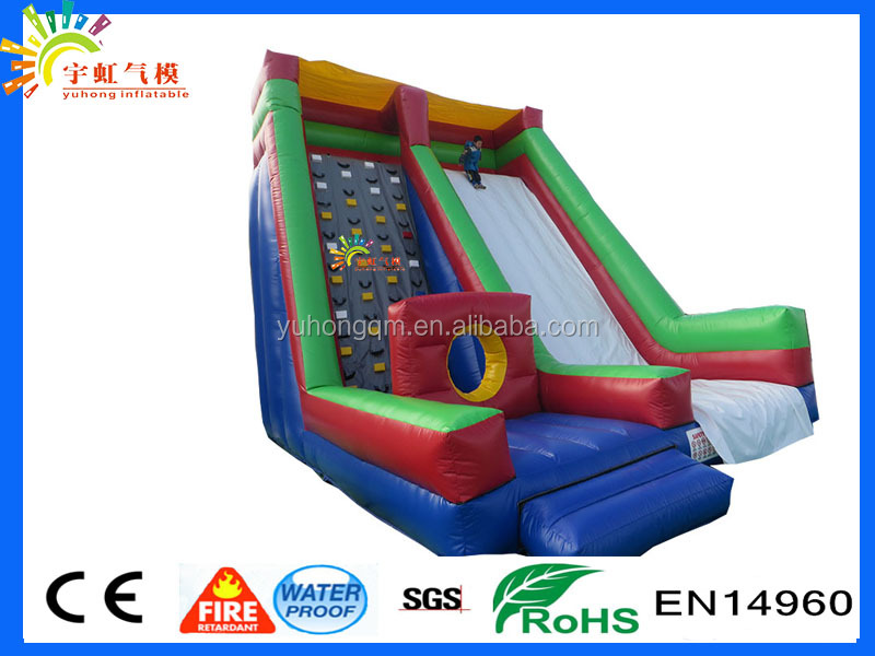 2016 BEST QUALITY dry inflatable slide WITH climbing