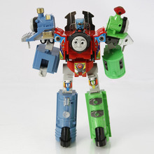 Entertaining 3 Part Cartoon Thomas Model Transformation Child Toy Multicolor