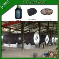 8-10 ton capacity waste tire pyrolysis oil recycling plant