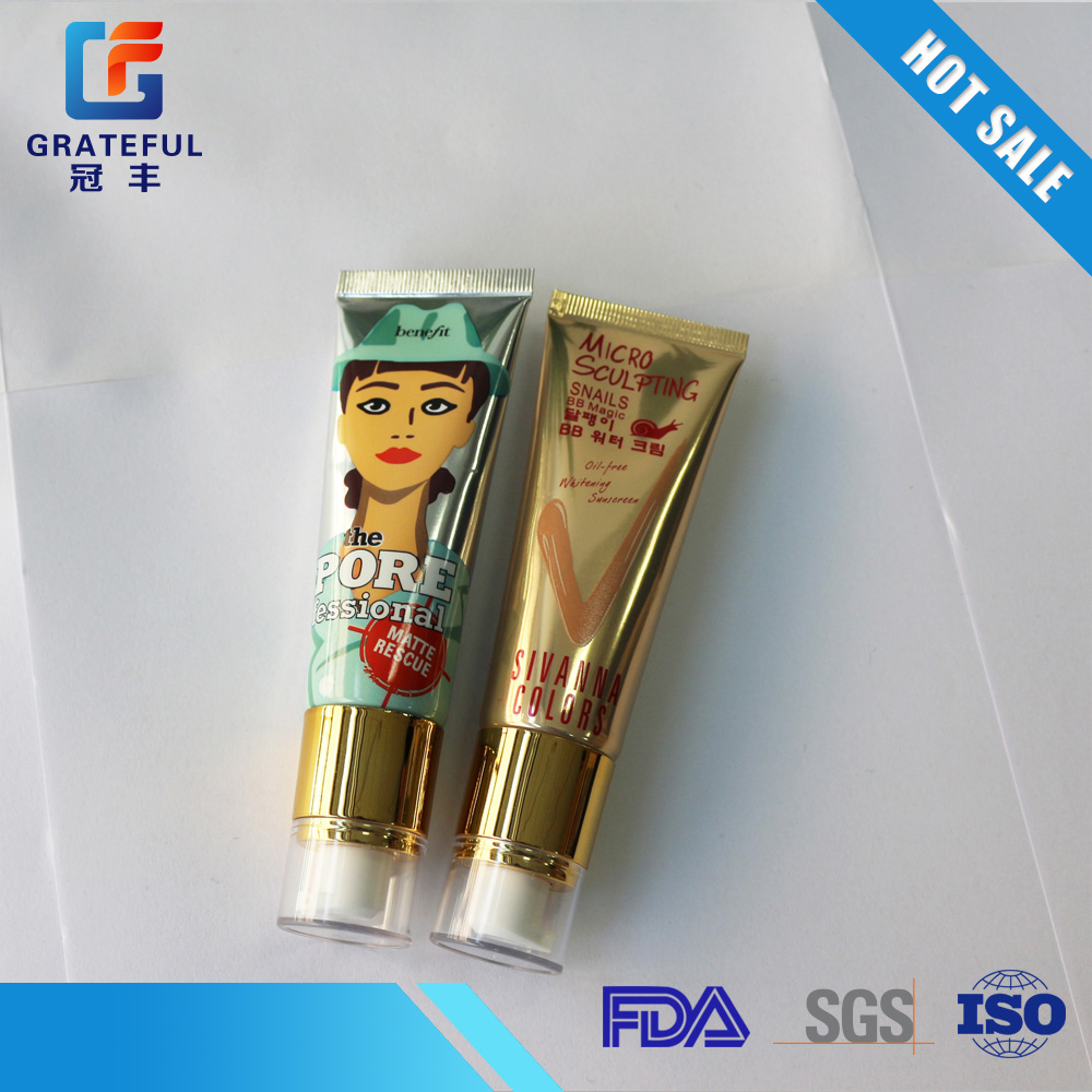30mm,50ml Cosmetic plastic packaging tube for hand cream