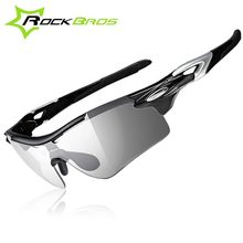 ROCKBROS Polarized Sports Cycling Sunglasses UV400 Protective Driving Sunglasses with Transparent Photochromic Lens