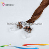 Factory Directed 5A Invisible Cold Fusion remy loop hair extension